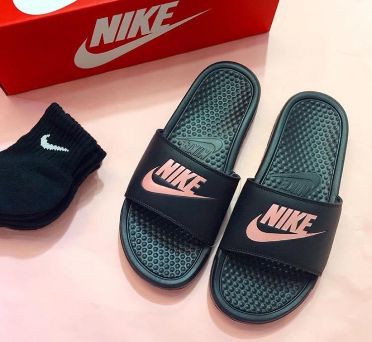 Nike Benassi Black Pink   SKYMART